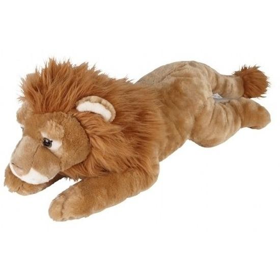 Knuffel leeuw liggend bruin 60 cm knuffels kopen