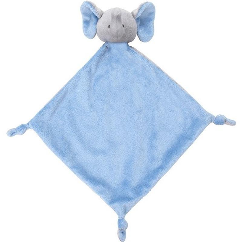 Knuffel olifant blauw 40 cm kraamcadeau-kraamkado knuffels kopen