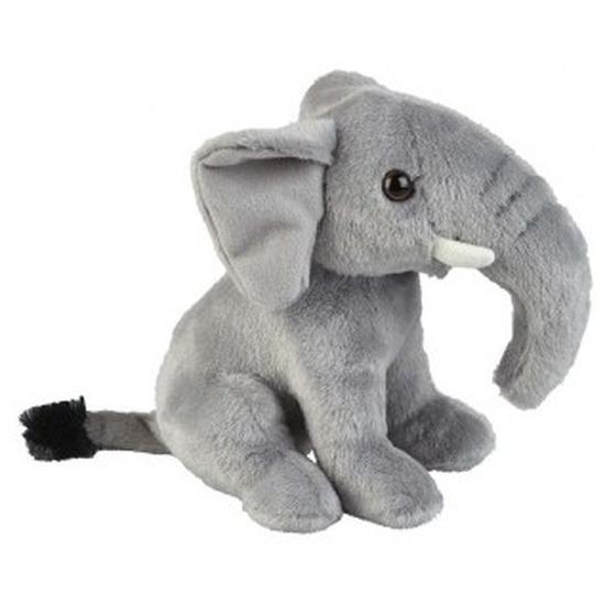 Knuffel olifant zittend grijs 18 cm knuffels kopen