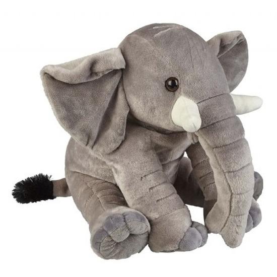 Knuffel olifant zittend grijs 38 cm knuffels kopen