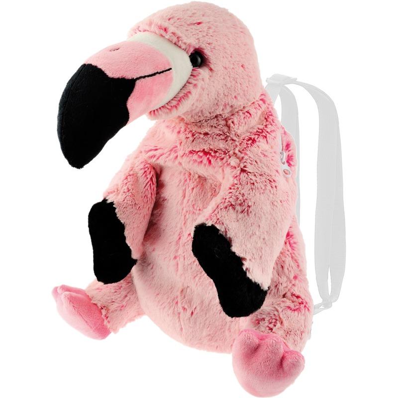 Knuffel rugzakje-rugtasje flamingo vogels 32 cm knuffels kopen