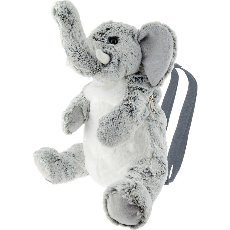 Knuffel rugzakje-rugtasje olifant grijs 25 cm knuffels kopen