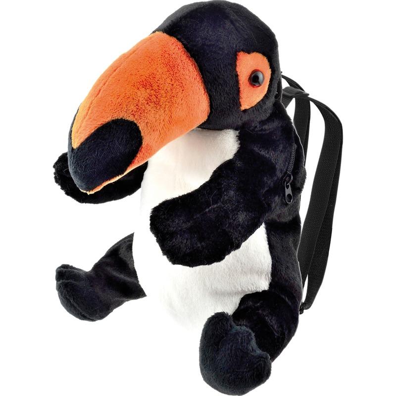 Knuffel rugzakje-rugtasje toekan vogels 32 cm knuffels kopen