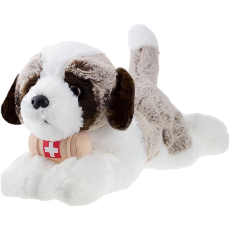 Knuffel Sint Bernard hond bruin 32 cm knuffels kopen