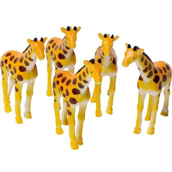 Kunsttof giraffe gevlekt 7 cm diertjes kopen