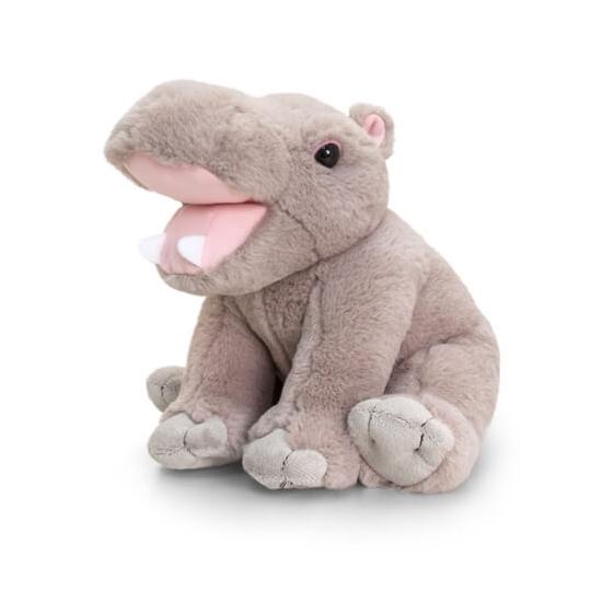 Nijlpaard knuffel zittend 25cm