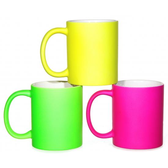 Afbeelding van Opvallende neon koffiemokken