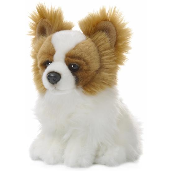 Afbeelding van Papillon hond knuffeldier 19 cm