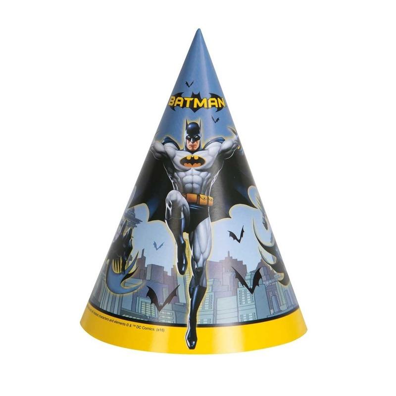 Afbeelding van Party hoedjes Batman 8 stuks