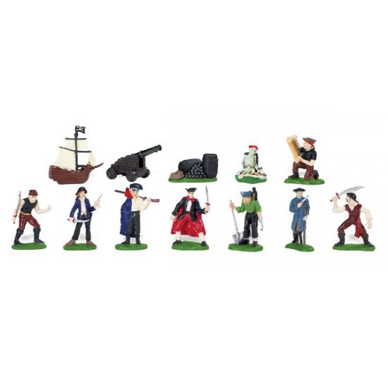 Piraten speelgoed poppetjes 12 stuks