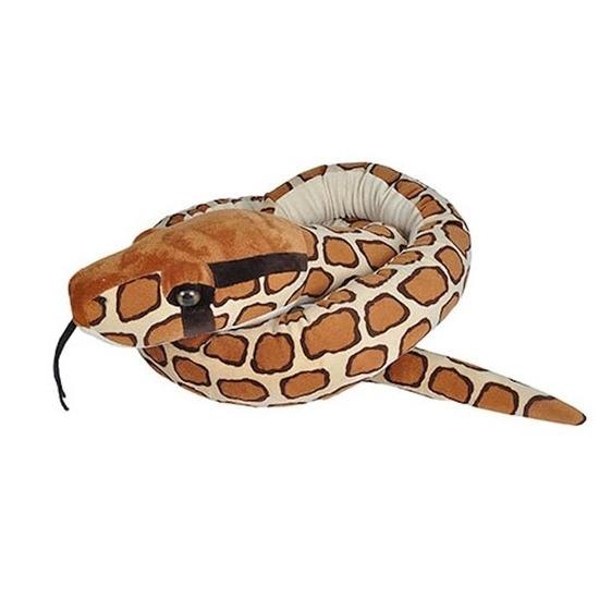 Pluche birmese python slangen knuffels 280 cm