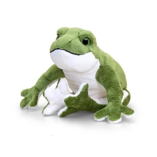 Pluche groene kikker knuffels met geluid 30 cm
