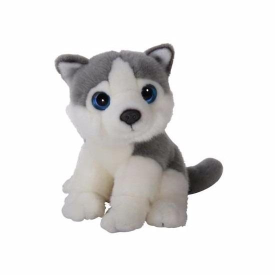 Pluche knuffel hond Husky 18 cm