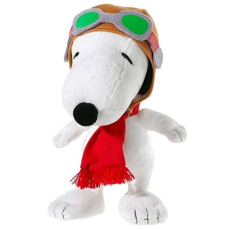Pluche knuffel van Snoopy 18 cm