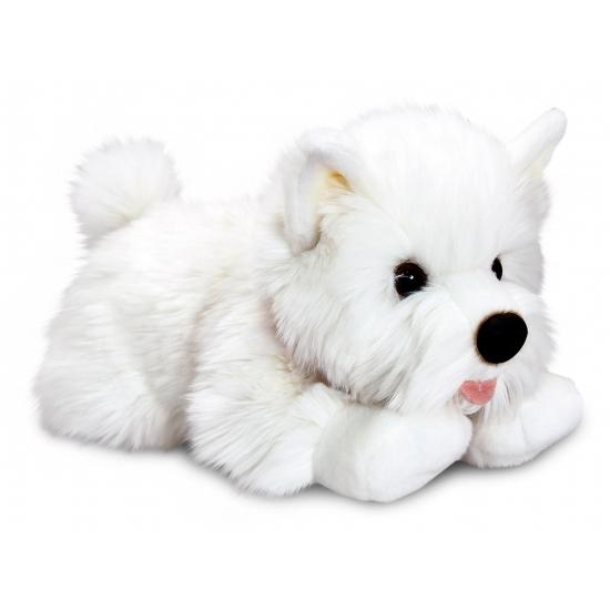 Pluche knuffel witte Terrier pup 35 cm