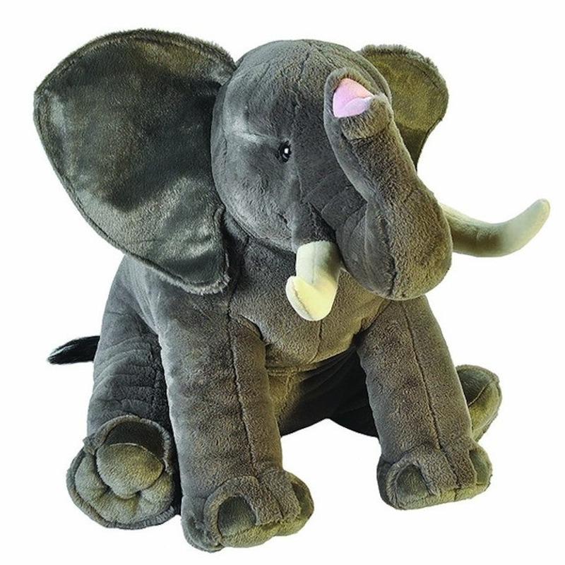 Pluche olifanten knuffels 70 cm