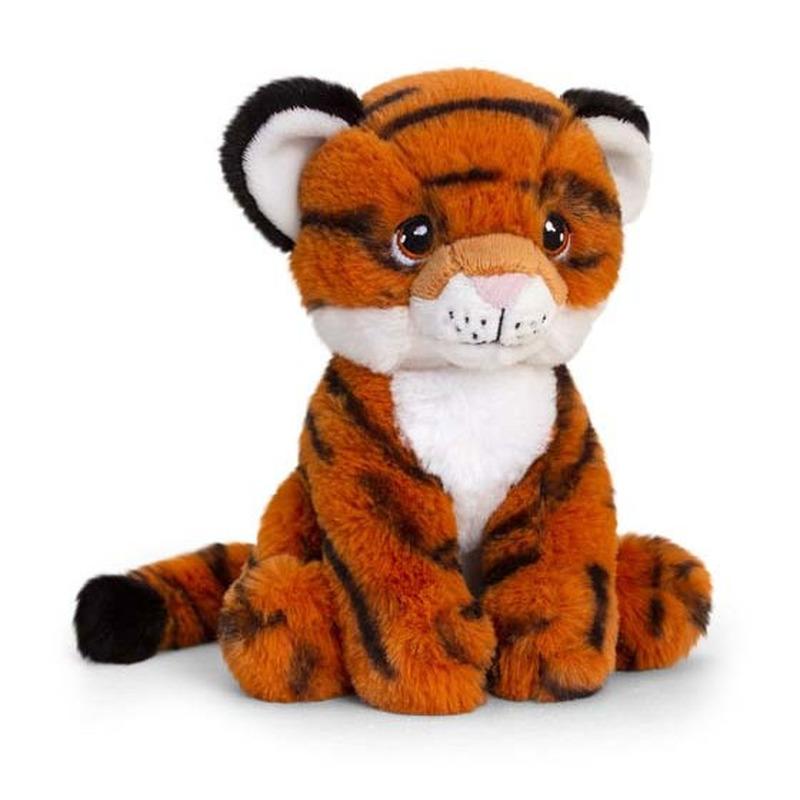 Pluche tijger knuffel van 18 cm