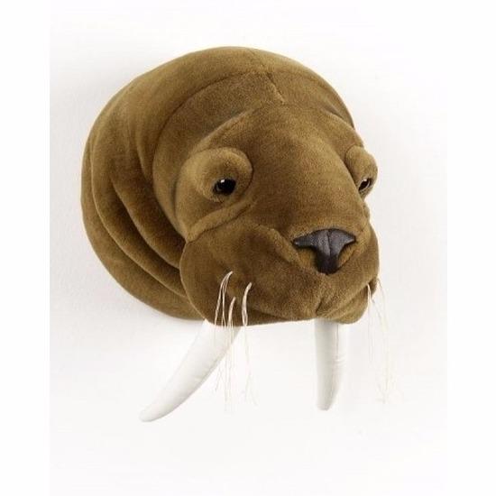 Afbeelding van Pluche walrussenkop voor de muur