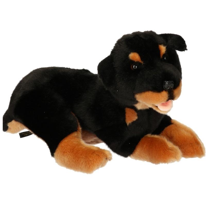 Rottweiler honden knuffels 35 cm