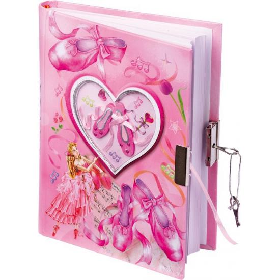 Roze dagboek met balletschoenen
