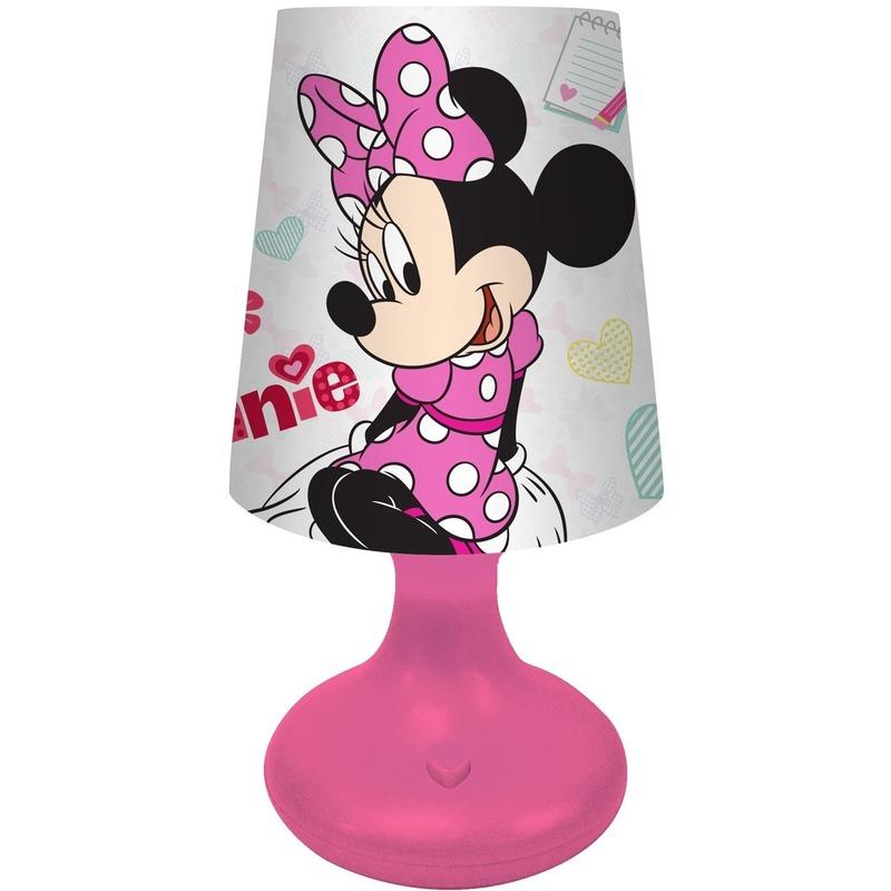Roze Disney Minnie Mouse lampje-nachtlampje voor kinderen