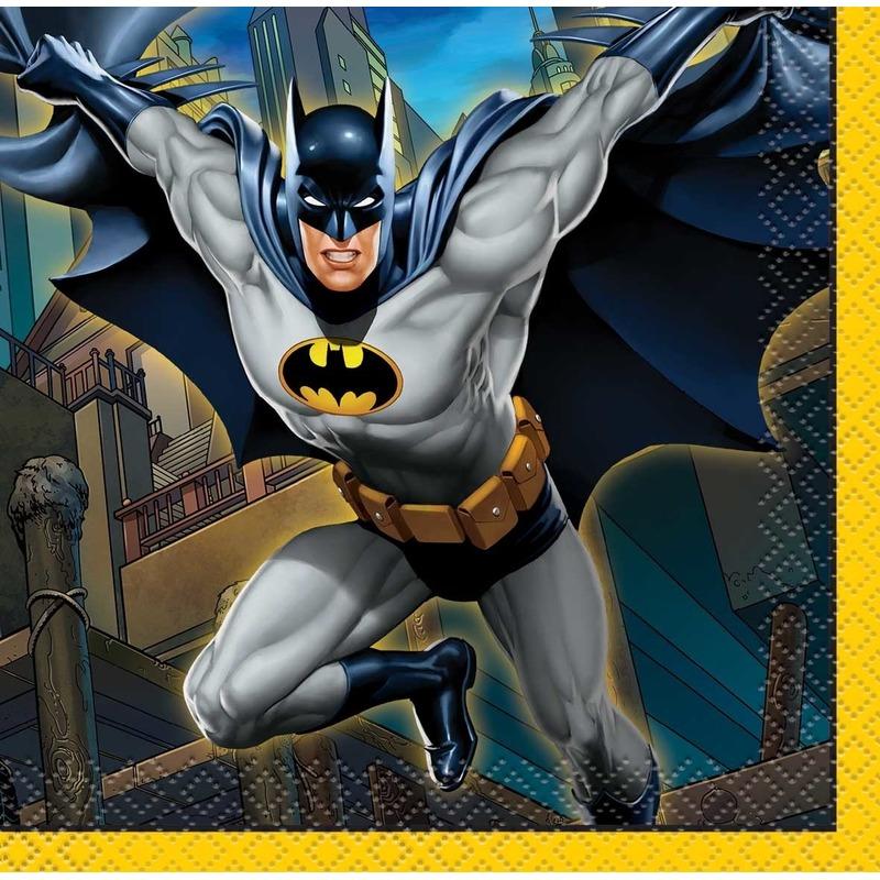Afbeelding van Servetjes Batman thema 16 stuks