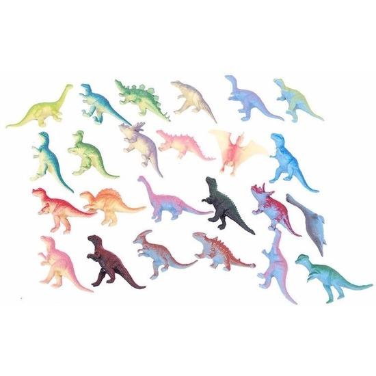 Afbeelding van Speelgoed dino gekleurd 12 stuks
