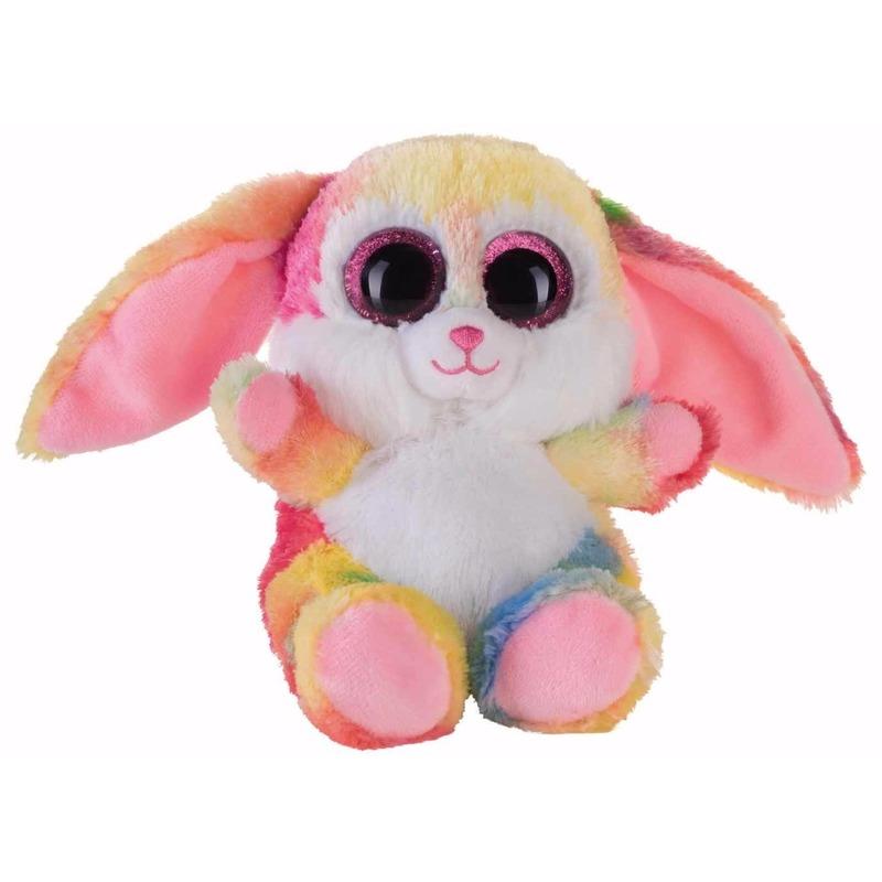 Afbeelding van Speelgoed knuffel roze gekleurd haasje/konijntje 15 cm