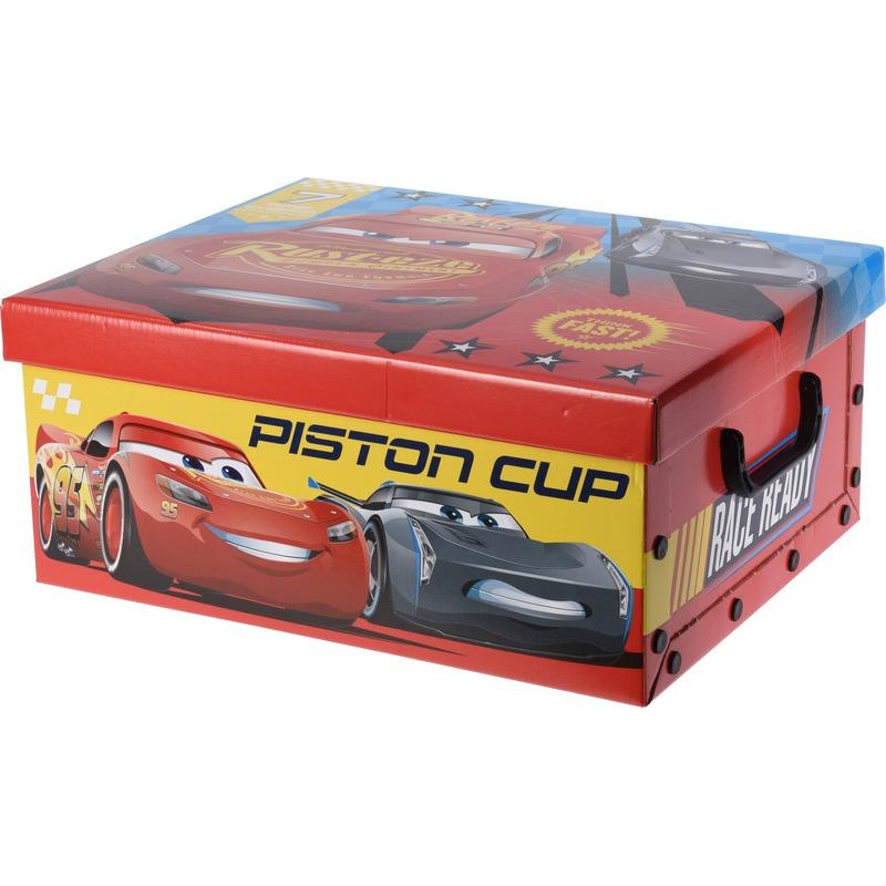 Afbeelding van Speelgoed opbergdoos Cars rood 37 cm