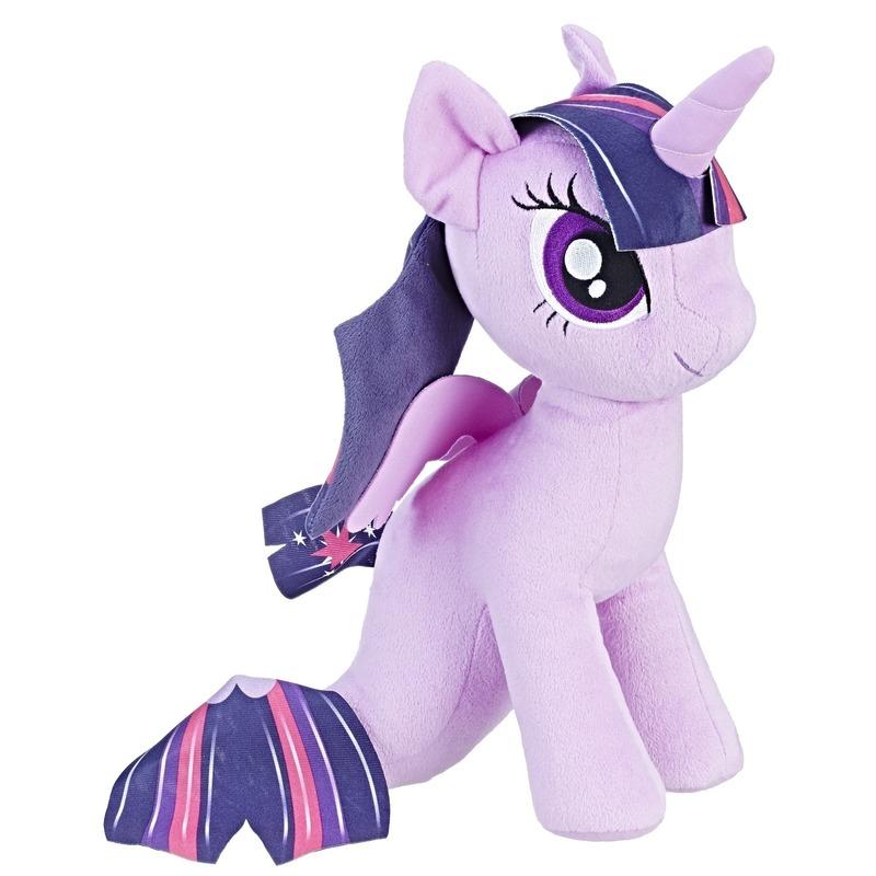 Speelgoed paarse My Little Pony knuffel zeepaard 32 cm