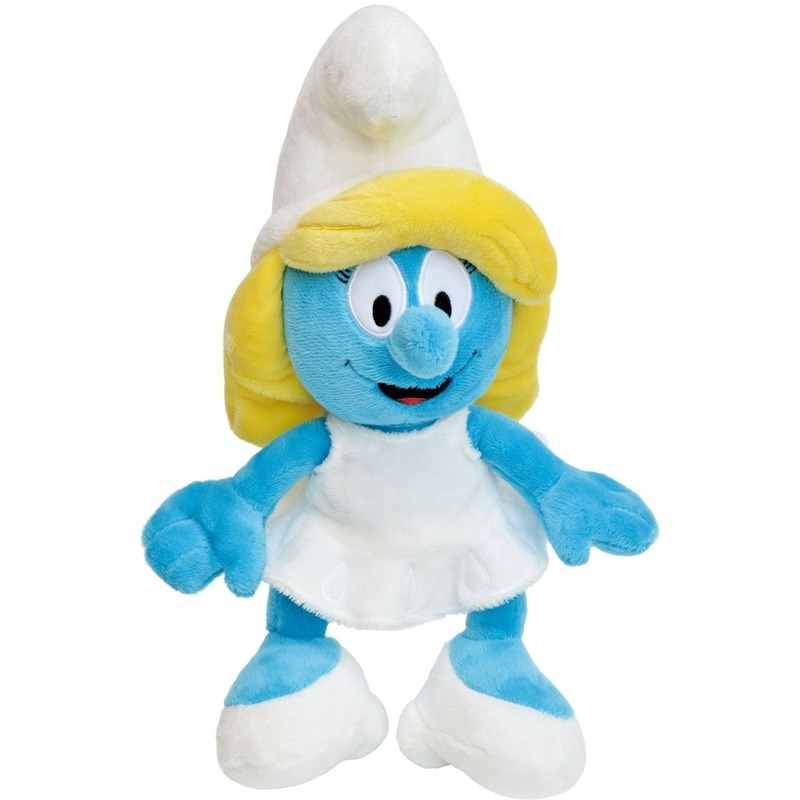 Speelgoed Smurfen knuffels 20 cm blauw-geel