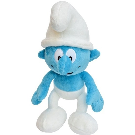 Speelgoed Smurfen knuffels 20 cm blauw-wit