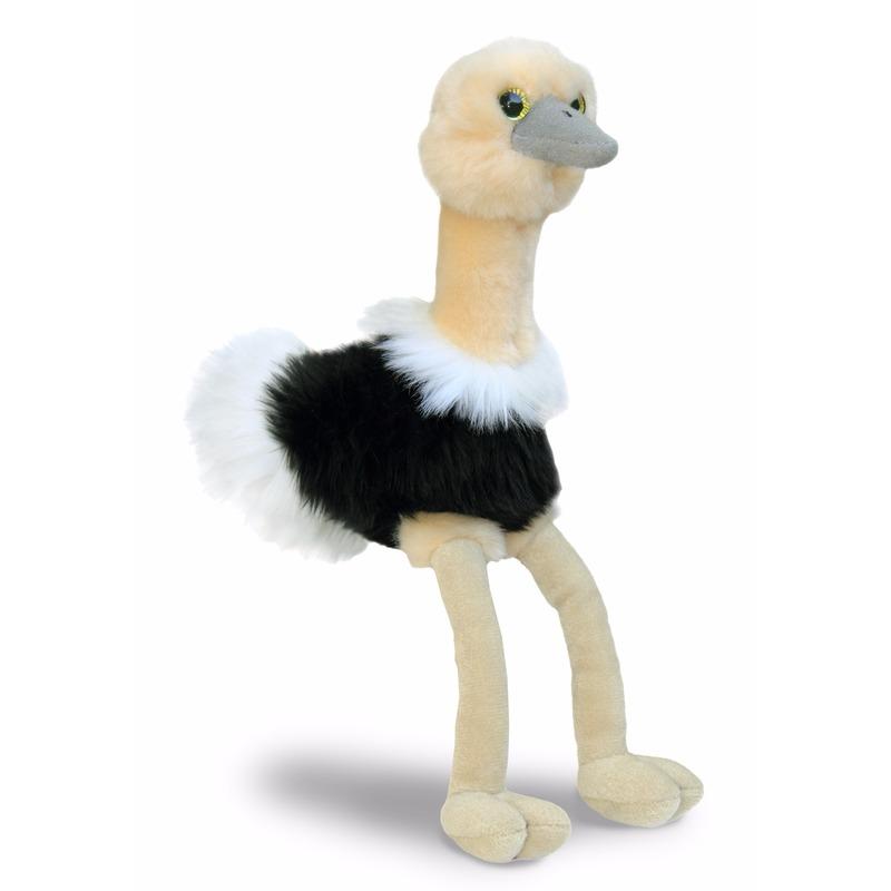 Speelgoed struisvogel knuffel 20 cm