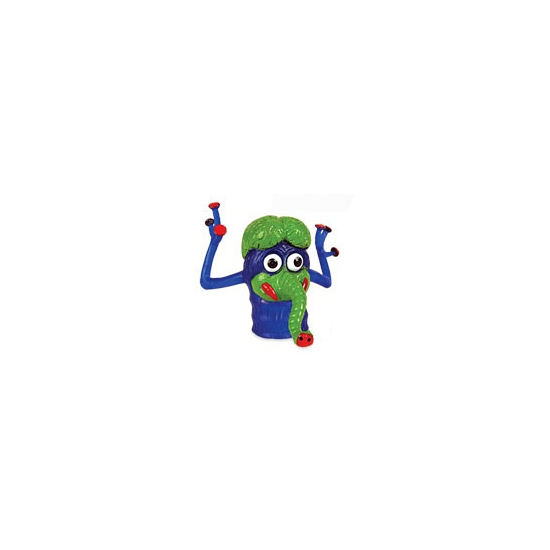 Afbeelding van Speelgoed vingerpopjes blauwe monsters