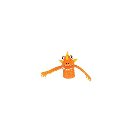 Afbeelding van Speelgoed vingerpopjes oranje monsters