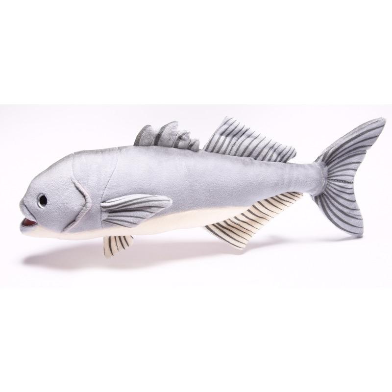 Afbeelding van Speelgoed vissen knuffel blauwbaars 43 cm
