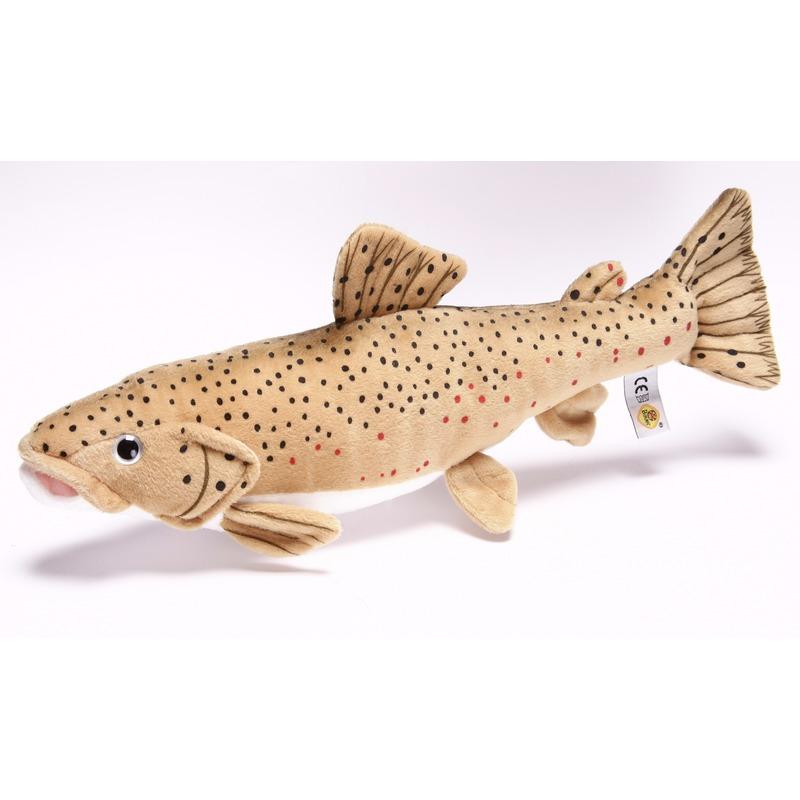 Afbeelding van Speelgoed vissen knuffel bruine forel 43 cm