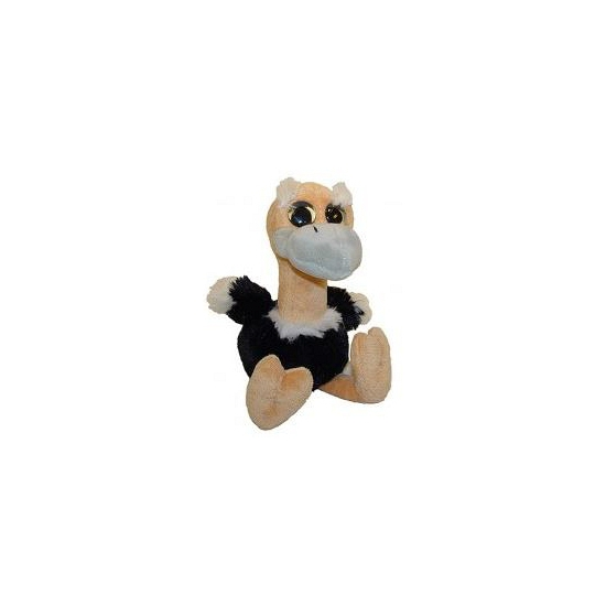 Struisvogel knuffelbeest 18 cm