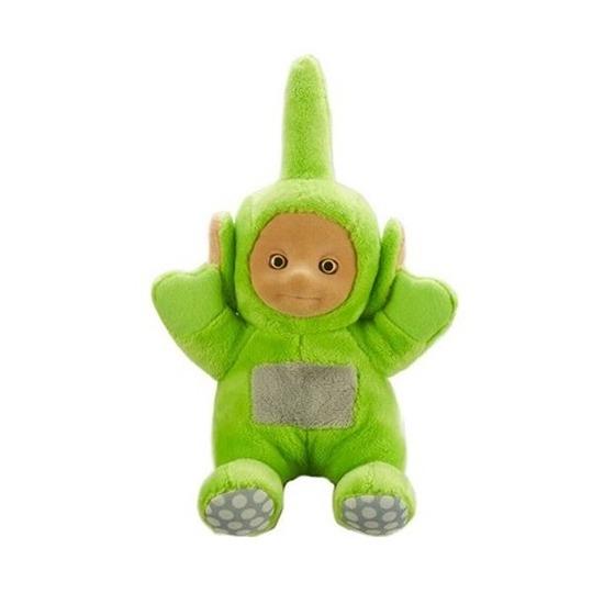 Teletubbie Dipsy knuffel met geluid groen 20 cm