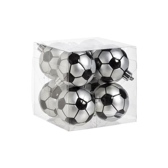 Voetbal kerstballen 8 stuks