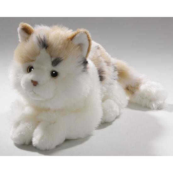 Witte gevlekte katten knuffels