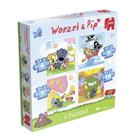 Woezel en Pip puzzels 4in1 voor kinderen