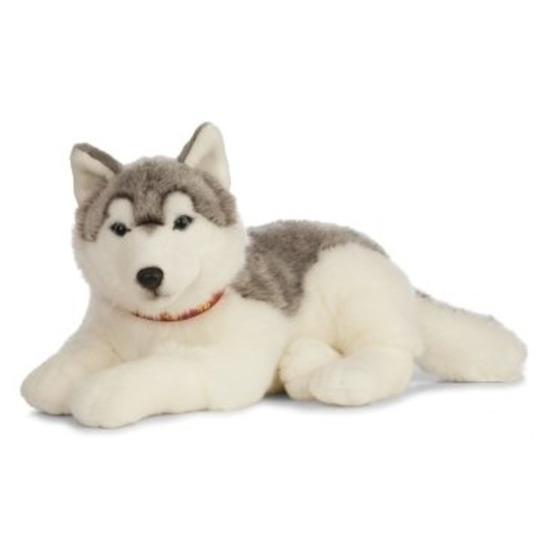 XL Knuffel Husky hond grijs-wit 60 cm knuffels kopen